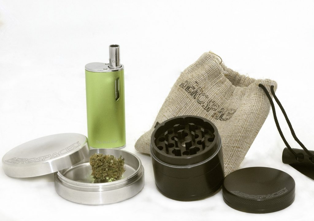 Marijuana Vape with grinder